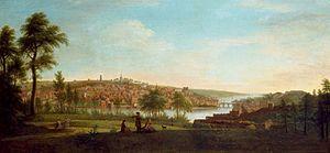 Gabrielle Ricciardelli - Image: Gabriele Ricciardelli View of Drogheda from Ballsgrove c 1750 1755