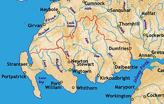 Galloway - The main rivers and several towns