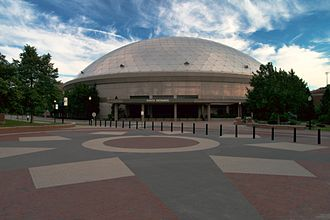 Connecticut Huskies men's basketball - Exterior view of Gampel Pavilion