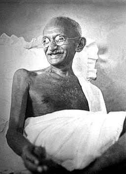 Gandhi smiling 1942