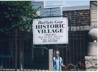 Buffalo Gap Historic Village - Entrance to Buffalo Gap Historic Village in Buffalo Gap, Texas