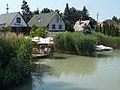 Garden Cafe and motorboat from educational trail bridge, 2019 Szigetszentmiklós.jpg