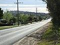 Garfield - main street (Longwarry-Nar Nar Goon Rd) westwards from railway overpass 15.10.07.JPG