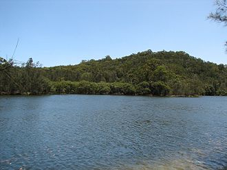 Garigal National Park - View of the national park from Middle Harbour
