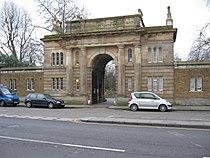 Gate of Brompton Cemetery on the Old Brompton Road.JPG