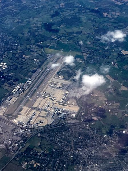 Gatwick Airport from the air - on way to Stansted Airport (16982415097).jpg