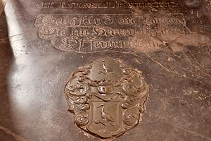 Johannes Hevelius - Tombstone of Johannes Hevelius in St Catherine's Church in Gdańsk