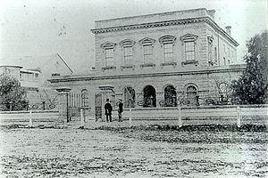 Timeline of Geelong history - The former Geelong Law Courts, in Myers Street, Geelong.