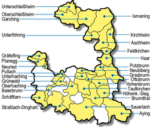 landkreis münchen karte Liste der Gemeinden im Landkreis München – Wikipedia landkreis münchen karte