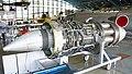 General Electric J47-GE-27 turbojet engine left front view at Hamamatsu Air Base Publication Center November 24, 2014.jpg