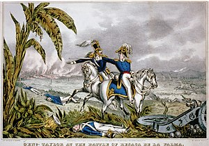 1846 in Mexico - Genl. Zachary Taylor at the Battle of Resaca de la Palma