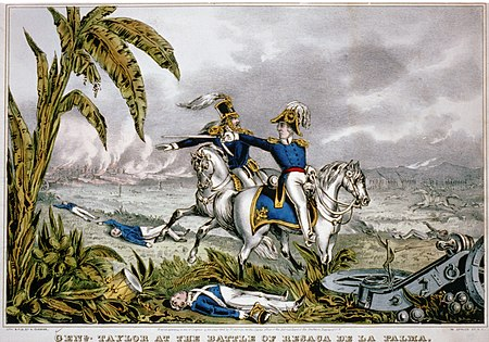 General Zachary Taylor at the Battle of Resaca de la Palma. Genl. Taylor at the battle of Resaca de la Palma (Currier & Ives).jpg