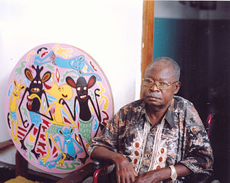 Makonde people - Image: George Lilanga insieme all'opera Banana guarda ho l'acquolina in bocca