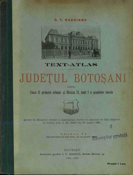 File:George T. Buzoianu - Județul Botoșani - Text-atlas pentru clasa II primară urbană și divisia II, anul I, a școlelor rurale.pdf