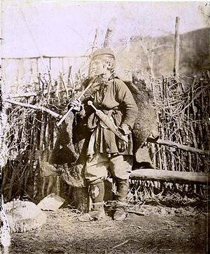 Georgian feudalism - A Georgian peasant (shepherd) (1880s).