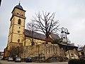 Georgskirche, ehemalige Wehrkirche, 1495-1498 - Erbauung des spätgotischen Chores und der Sakristei durch Peter von Koblenz, 1515 - Erbauung des Kirchturms durch Caspar Lechler - panoramio.jpg