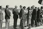 Gerald Ford deplaning at Patrick Henry Airport before third debate14.jpg