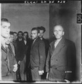 German Gestapo agents arrested after the fall of Liege, Belgium, are herded together in a cell in the citadel of Liege. - NARA - 531331.tif