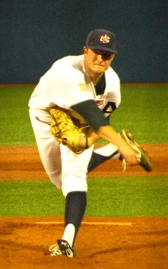 Gerrit Cole - Cole pitching for the US national baseball team