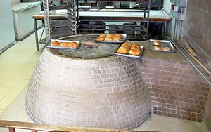 Devon Avenue (Chicago) - Tandoor oven for cooking bread in Georgian bakery