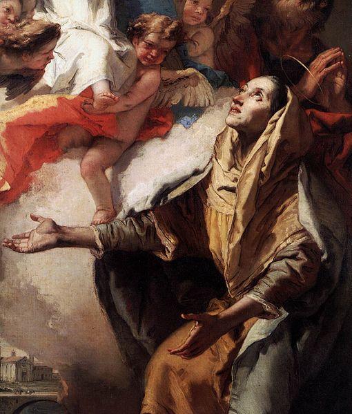 [peinture] Vos oeuvres préférées - Page 2 510px-Giovanni_Battista_Tiepolo_-_The_Vision_of_St_Anne_%28detail%29_-_WGA22359