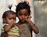 Girls in Mara village, Morena district, India.jpg