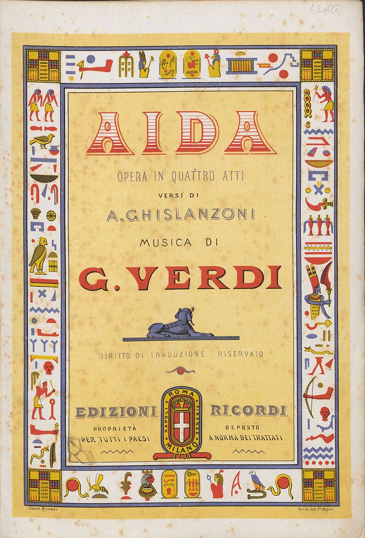 Giuseppe Verdi, Aida vocal score title page.jpg