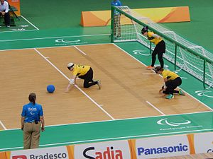 Australia at the 2016 Summer Paralympics - Australia vs Canada at the Future Arena. Left to right: Nicole Esdaile, Meica Horsburgh and Michelle Rzepecki.