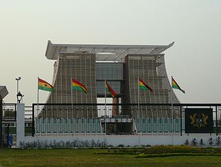 Jubilee House Official residence and office to the President of Ghana