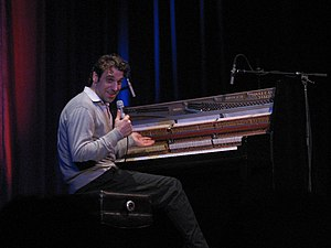 Chilly Gonzales - Gonzales at a concert with Socalled at Théâtre National in Montreal, 2005