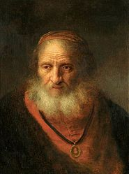 Govert Flinck: Bust of an old man with a beard and medal