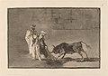 Goya - Los Moros hacen otro capeo en plaza con su albornoz.jpg