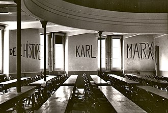 May 1968 events in France - Wall slogan in a classroom