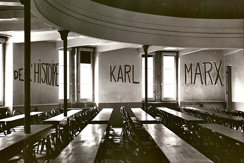 Graffito in University of Lyon classroom during student revolt of 1968