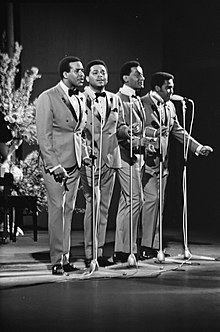 "The Four Tops in 1968. (L-to-R) Levi Stubbs, Renaldo ""Obie"" Benson, Abdul ""Duke"" Fakir, and Lawrence Payton"
