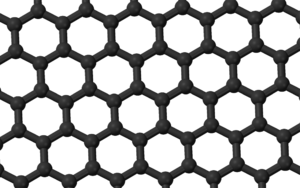 One layer of a graphite crystal (graphene) wit...