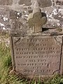 Grave of Carl Piel Prince's servant in Rathlin Church of Ireland in the harbour bay - died from bee sting.jpg