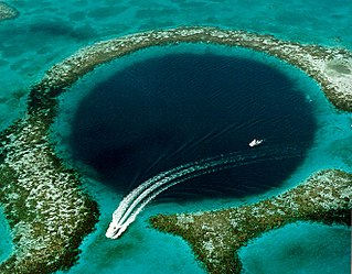 Great Blue Hole submarine sinkhole off the coast of Belize