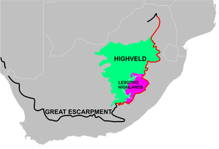 Highveld Natural region of the South African inland plateau