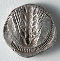Greece, Matapontum, 6th century BC - Stater- Ear of Corn incuse (reverse) - 1916.986.b - Cleveland Museum of Art.jpg