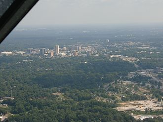 Greenville, South Carolina - Downtown Greenville from the air