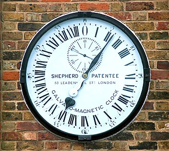 24-hour analog dial - Shepherd Gate clock outside the Royal Observatory, Greenwich