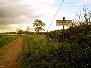 Green lane (road) - A green lane in Grendon, Northamptonshire