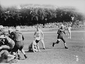 American football in Australia - Action at the gridiron football match held in Brisbane between American ex-servicemen in 1944
