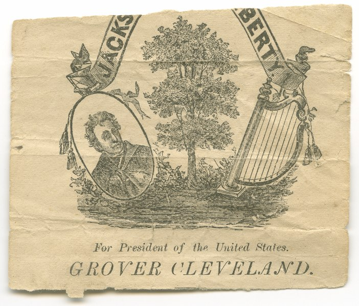 File:Grover Cleveland for president campaign memorabilia fragment LCCN2015645500.tif