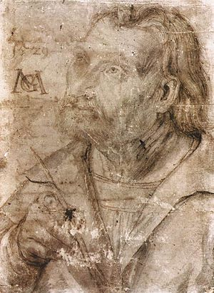 Matthias Grünewald - Grünewald's John the Evangelist. This work was long thought to be a self-portrait.