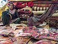 Gurjar Lady with her Embroidery (14390885127).jpg