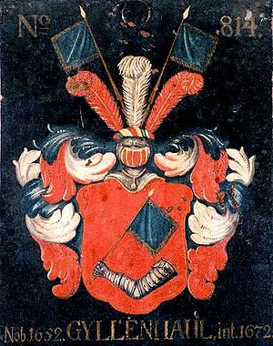 Gyllenhaal family - Escutcheon of the Gyllenhaal family hanging in the House of Nobility