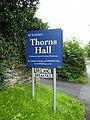 HF Holidays Thorns Hall sign on the eastern edge of Sedbergh - geograph.org.uk - 517705.jpg