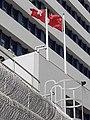 HK 荃灣 Tsuen Wan 荃景圍 Tsuen King Circuit 荃灣警署 Tsuen Wan Police Station flagpoles January 2021 SS2 08.jpg